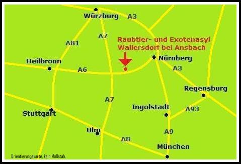 Karte Ansbach